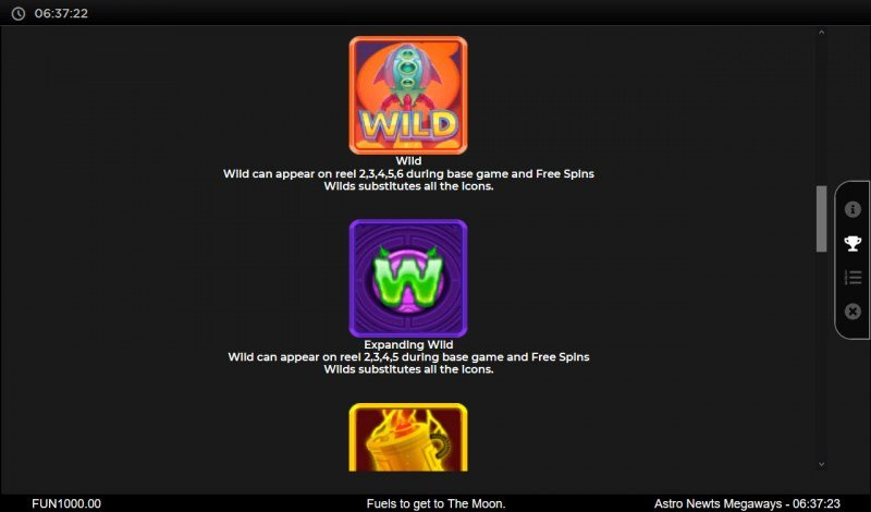 Astro Newts Megaways :: Wild Symbol Rules