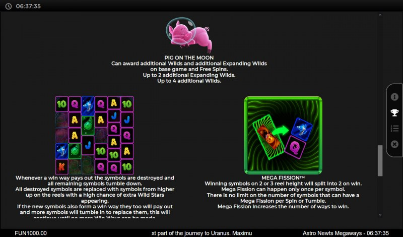 Astro Newts Megaways :: Feature Rules