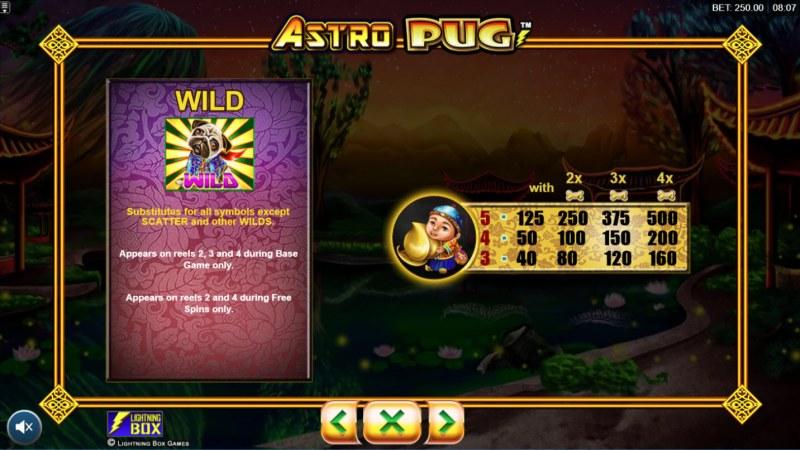 Astro Pug :: Wild Symbols Rules