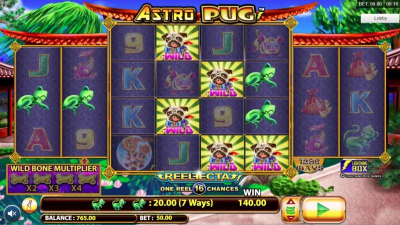 Astro Pug :: Multiple winning combinations