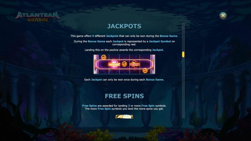 Atlantean Gigarise :: Jackpots