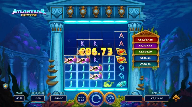 Atlantean Gigarise :: Multiple winning combinations