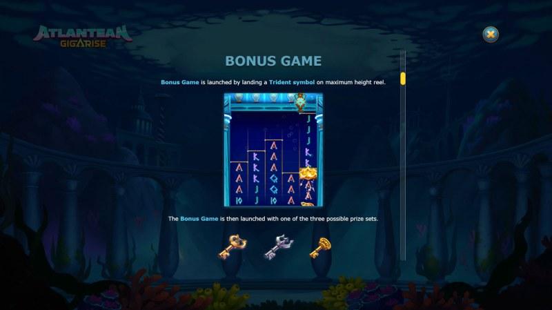 Atlantean Gigarise :: Bonus Game