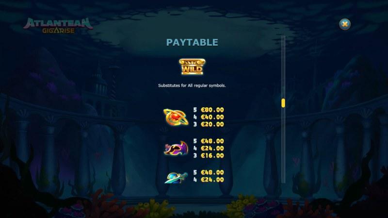 Atlantean Gigarise :: Paytable - High Value Symbols
