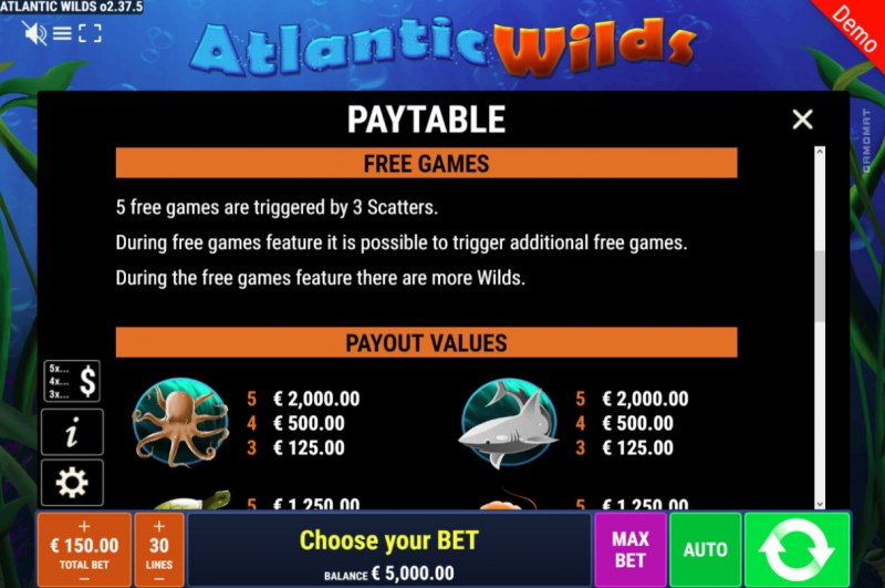 Atlantic Wilds :: Free Spins Rules
