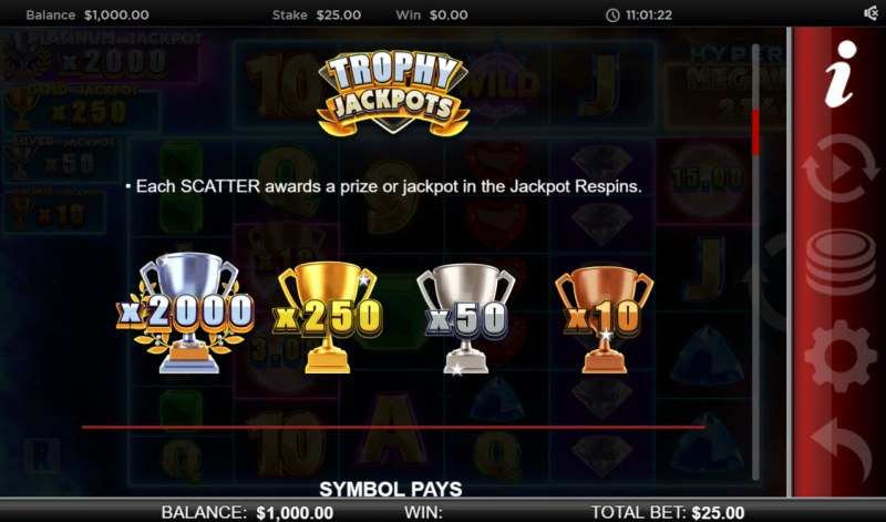 Atlantis Megaways :: Trophy Jackpots
