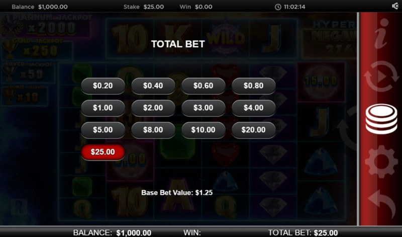 Atlantis Megaways :: Available Betting Options