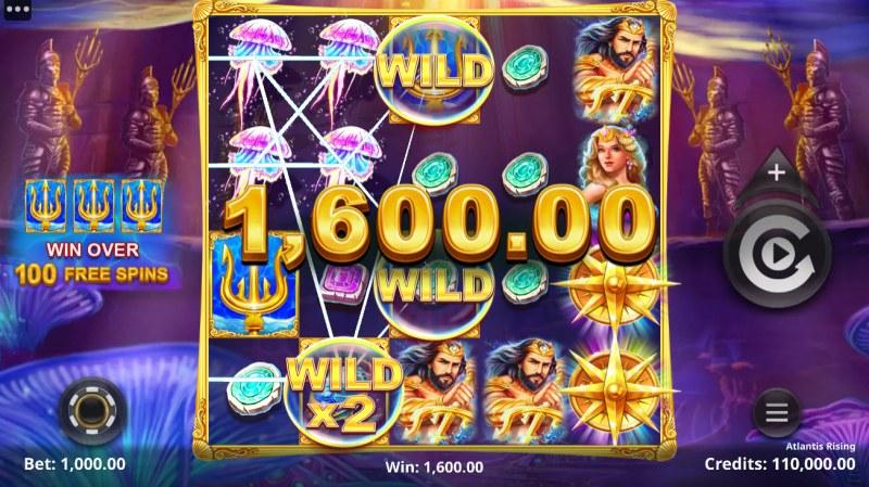 Atlantis Rising :: Multiple winning paylines