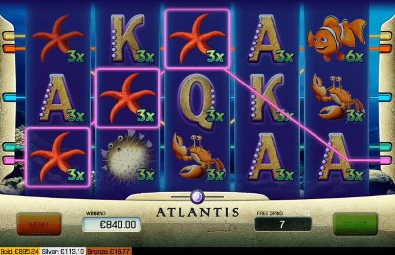 Atlantis :: Free Spins Game Board