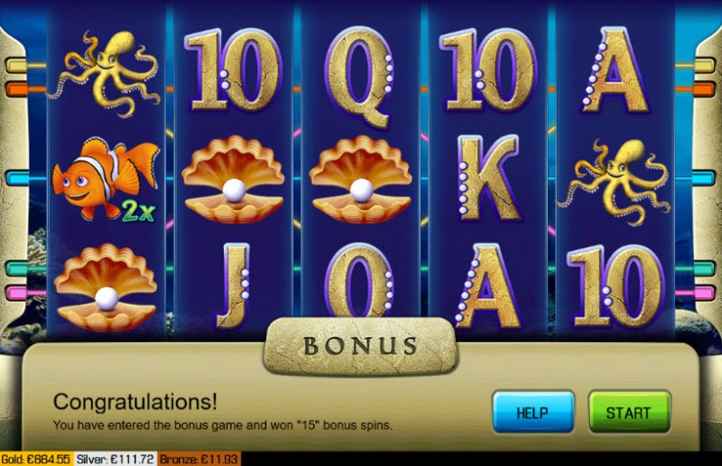 Atlantis :: Scatter symbols triggers the free spins feature