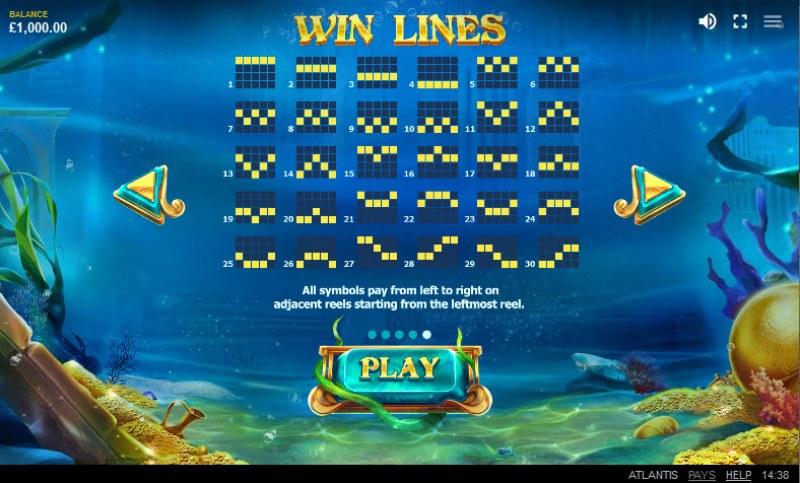 Atlantis :: Paylines 1-25