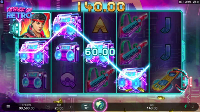 Play slots at Grand Mondial: Grand Mondial featuring the Video Slots Attack on Retro with a maximum payout of $10,000