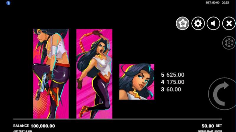 Aurora Beast Hunter :: Paytable - High Value Symbols