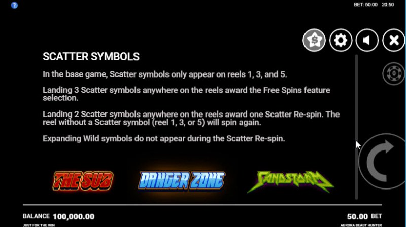 Aurora Beast Hunter :: Scatter Symbol Rules