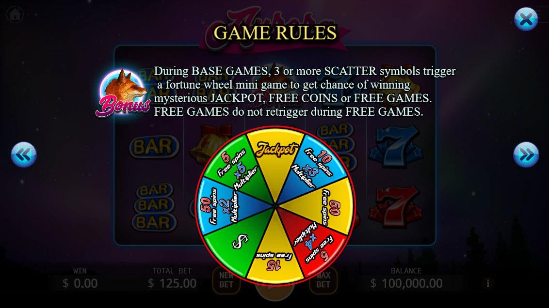 Aurora :: Bonus Game Rules