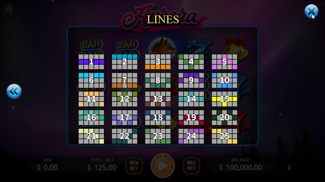 Aurora :: Paylines 1-25