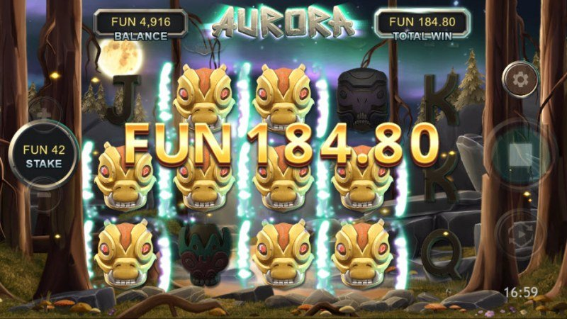 Aurora :: Multiple winning combinations leads to a big win