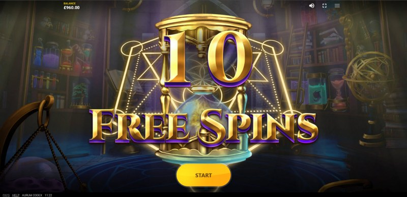 Aurum Codex :: 10 free spins awarded