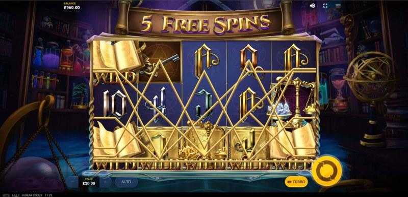Aurum Codex :: Free Spins Game Board