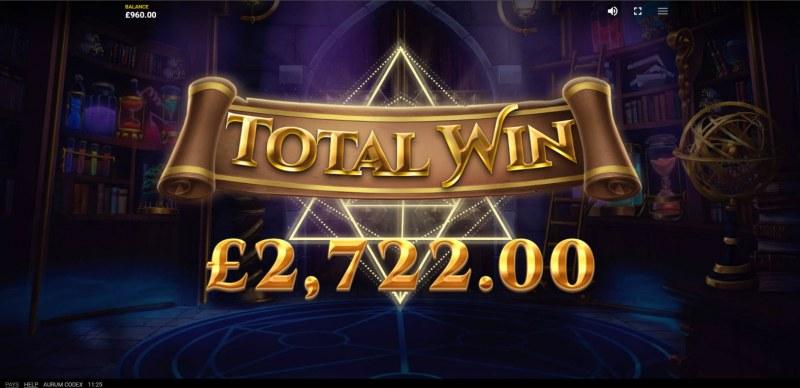 Aurum Codex :: Total Free Spins Payout
