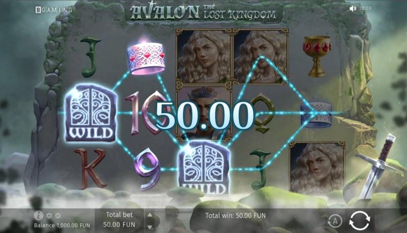 Avalon The Lost Kingdom :: A three of a kind win