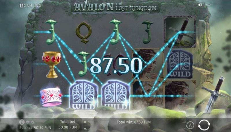 Avalon The Lost Kingdom :: Multiple winning paylines