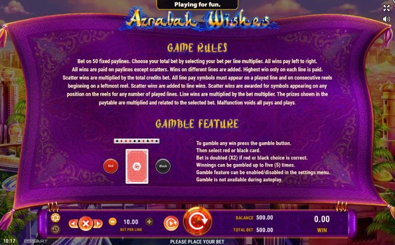Azrabah Wishes :: General Game Rules
