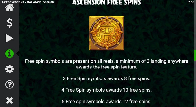 Aztec Ascent :: Free Spin Feature Rules