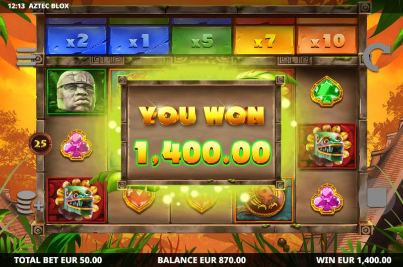 Aztec BLOX :: Total Free Spins Payout