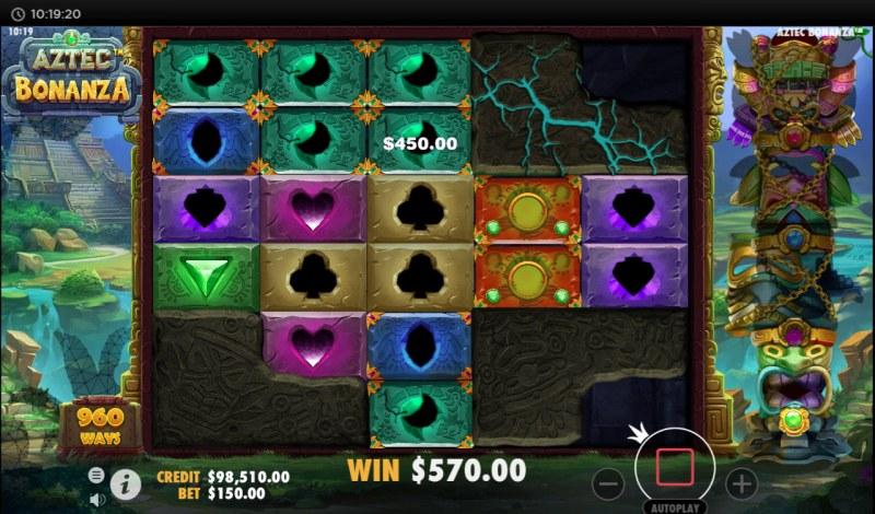 Aztec Bonanza :: Unlock corners for more possible winning combinations