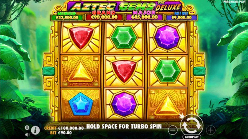 Aztec Gems Deluxe :: Main Screen