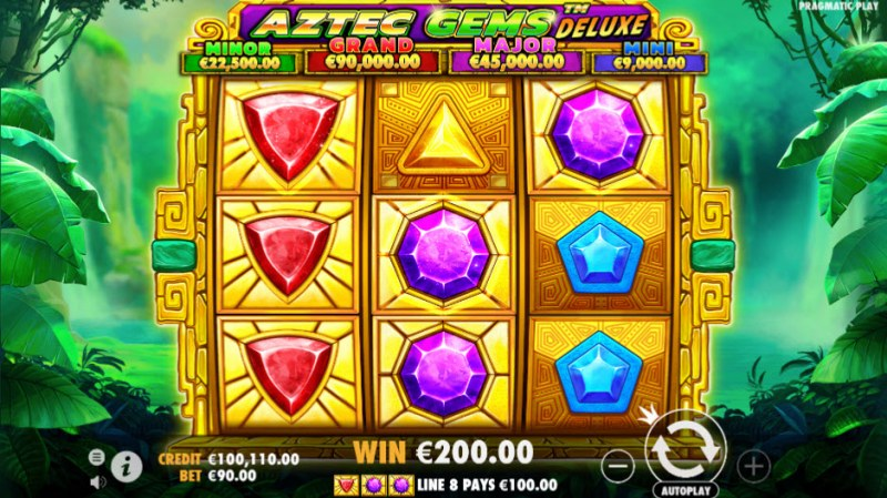 Aztec Gems Deluxe :: Winning combination