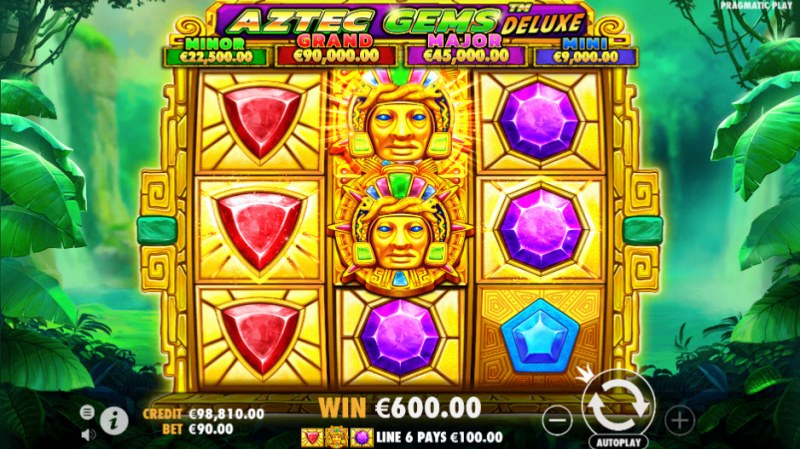 Aztec Gems Deluxe :: Three of a kind