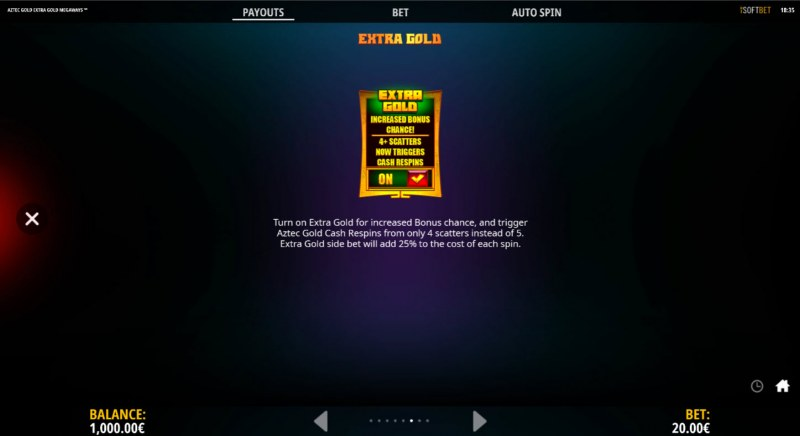 Aztec Gold Extra Gold Megaways :: Extra Gold