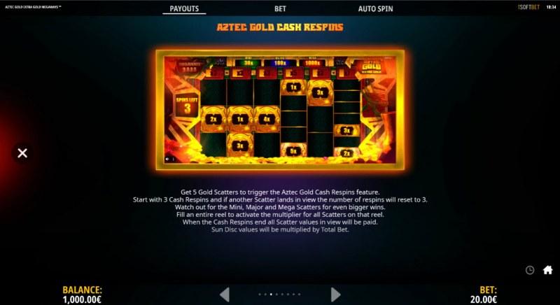 Aztec Gold Extra Gold Megaways :: Cash Respins
