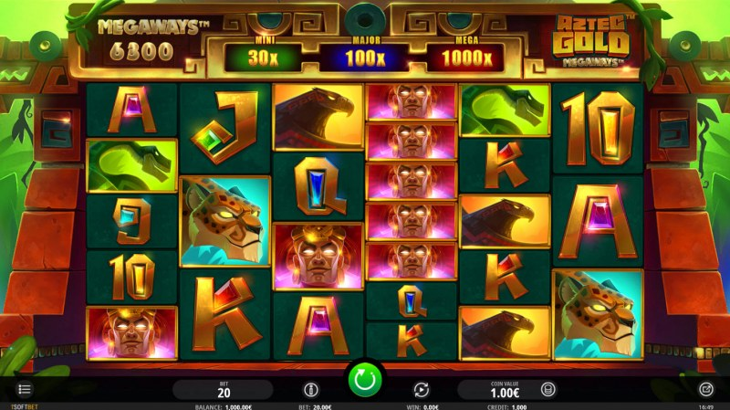 Play slots at Campeon: Campeon featuring the Video Slots Aztec Gold Megaways with a maximum payout of $19,200