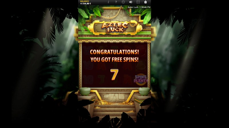 Aztec Luck :: 7 free spins awarded