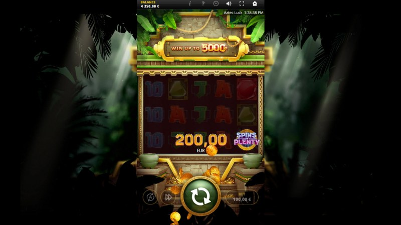 Aztec Luck :: Scatter symbols triggers the free spins bonus feature