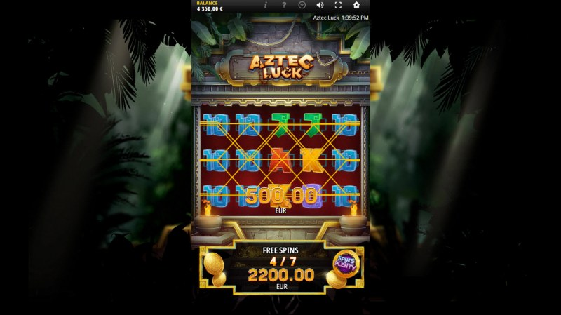 Aztec Luck :: Multiple winning combinations
