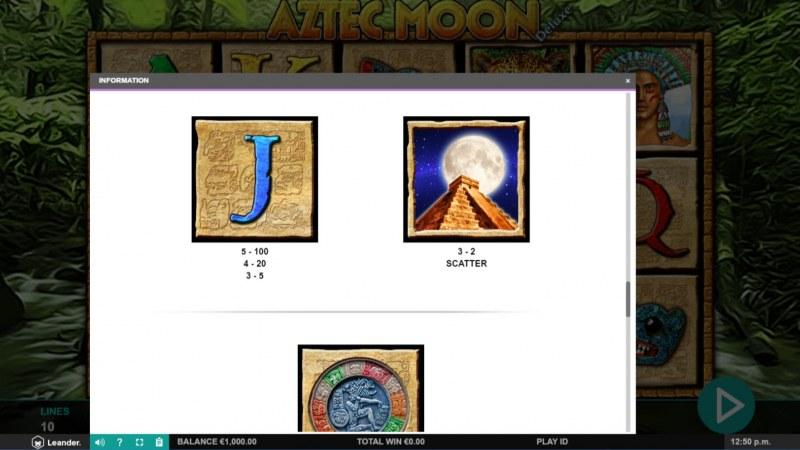 Aztec Moon Deluxe :: Scatter Symbol Rules