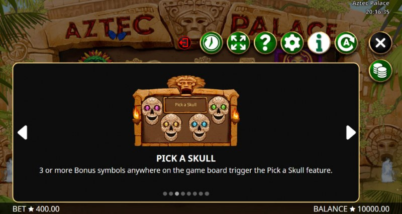 Aztec Palace :: Pick A Skull