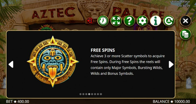 Aztec Palace :: Free Spins Rules