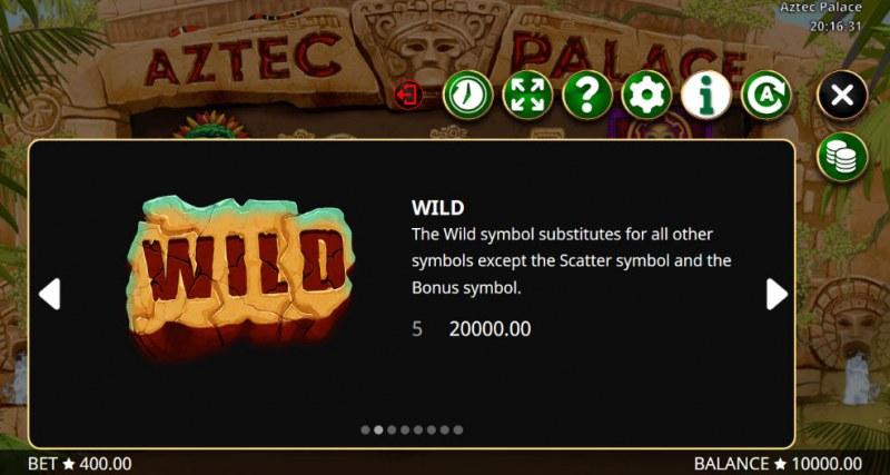 Aztec Palace :: Wild Symbols Rules