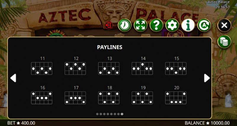Aztec Palace :: Paylines 11-20