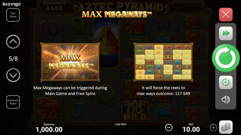 Aztec Pyramid Megaways :: Max Megaways