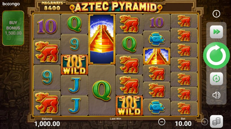 Aztec Pyramid Megaways :: Base Game Screen