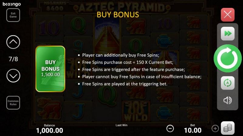 Aztec Pyramid Megaways :: Bonus Buy