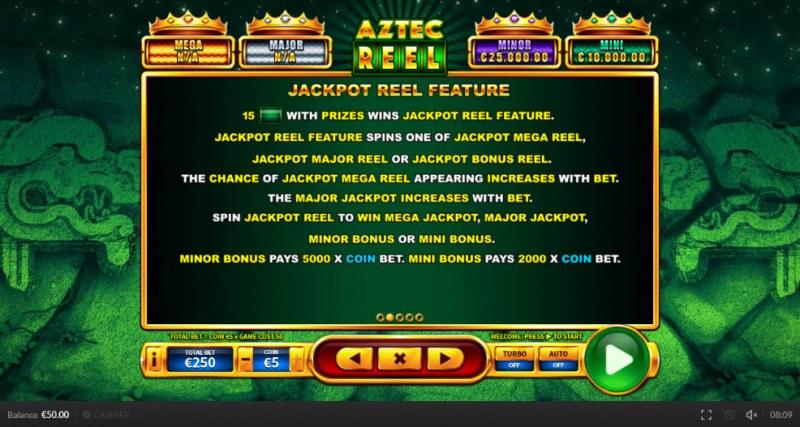 Aztec Reel :: Jackpot Reel Feature
