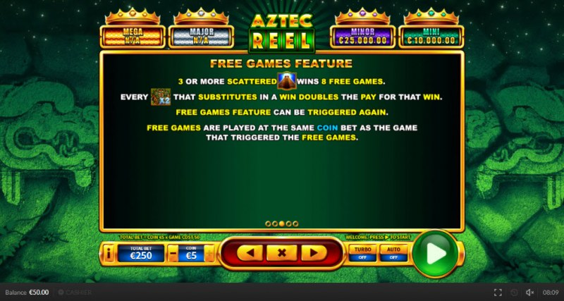 Aztec Reel :: Free Games Feature