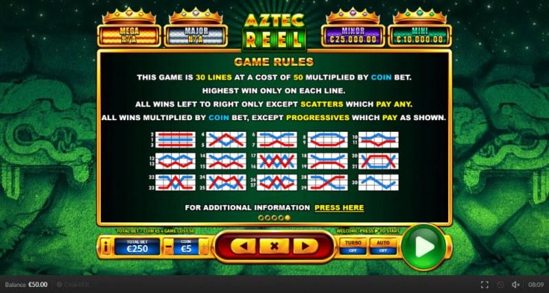 Aztec Reel :: General Game Rules